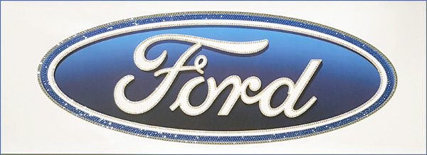 Ford Sign with Swarovski Lacquer Crystals