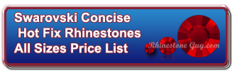 Swarovski Concise Hot Fix Rhinestones Complete Price List