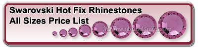 Swarovski Hot Fix RhinestoneComplete Price Lit