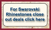 Swarovski Rhinestones Close Out Deals