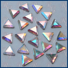 Flat Back Crystal AB Triangles