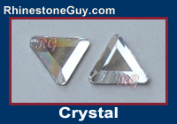 Czech Flat Back Triangle Crystal