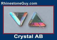 Czech Preciosa Triangle Crystal AB