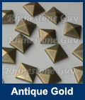 Hot fix nailhead Pyramid Antique Gold