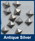 Hot fix nailhead Pyramid Antique Silver