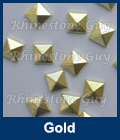 Hot fix nailhead Pyramid Gold