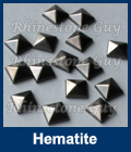 Hot fix nailhead Pyramid Hematite