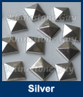 Hot fix nailhead Pyramid Silver