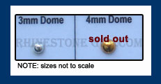 Hot Fix Dome Nail Head Sizes