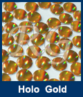 Hot Fix Spot Holographic Gold