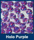 Hot Fix Spots Holographic  Purple