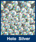 Hot Fix Spot Holographic Silver