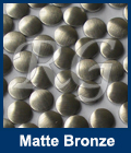 Hot Fix Spots Matte Bronze