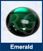 Emerald Glass Cabochon