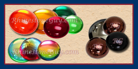 2194 and 2195 Glass Cabochons