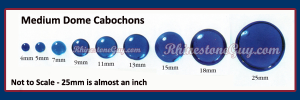Round Glass Cabochons Sizes
