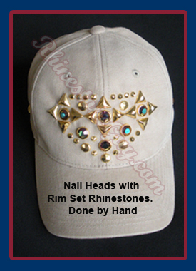 Nailhead decorated baseball cap