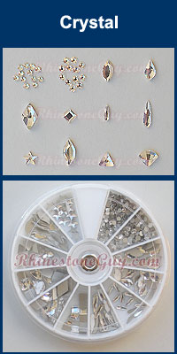 Swarovski Nail Art Rhinestones and Shape Kit - Crystal