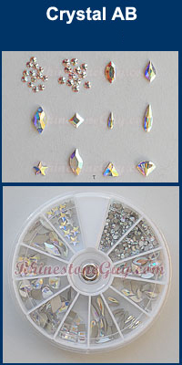 Swarovski Nail Art Rhinestones and Shape Kit Crystal AB