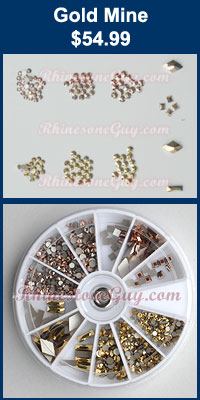 Swarovski Nail Art Kit Gold Mine
