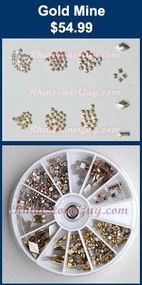 Swarovski Nail Art Kit Gold Mine