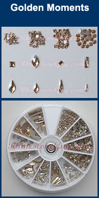 Swarovski Nail Art Kit Golden Moments