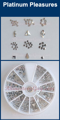 Swarovski Nail Art Kit Platinum Pleasures