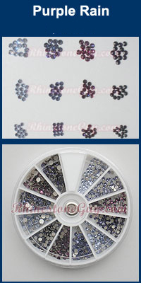 Swarovski Nail Art Kit Purple Rain Rhinestones