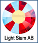 Light Siam AB Rhinestone