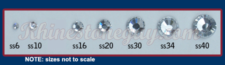 RG Premium Rhinestone Sizes