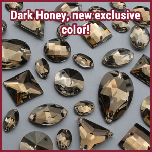 Dark Honey Sew On Jewels and shapes