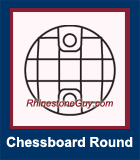 RG Chessboard Round Sew On