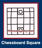 RG Chessboard Square Sew On