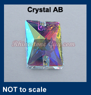 RG Rectangle Sew On Crystal AB