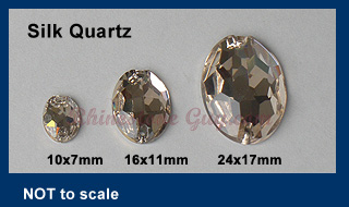 RG Premium Oval Sew On Silk Quartz