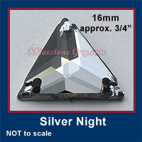 RG Triangle Sew On Silver Night