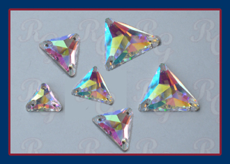 Triangle Sew On Jewels in  Crystal AB