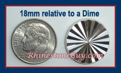 Radiance 18mm Silver next to a quarter