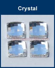 Chessboard Square Flat Back Crystal RG Premium