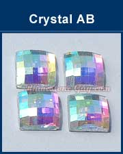 Chessboard Square Crystal AB