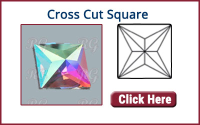 RG Premium Luxury Cross Cut Flat Back Square