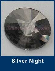 RG Rivoli Silver Night Flat Back