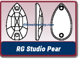 RG Studio Pear Sew On Jewels
