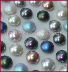 72218      Wht by Gross SALE Flat Back Pearl Acrylic Faux Cabachon Round 18mm