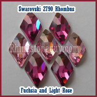 Swarovski Rhombus Fuchsia & Light Rose