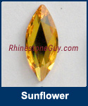 Swarovski 2201 Navette Jewel  Cut Sunflower
