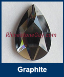 Swarovski 2303 Graphite Pear Jewel Cut