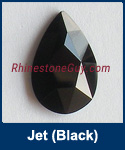 Swarovski 2303 Jet Pear Jewel Cut