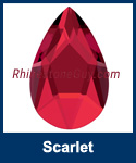 Swarovski 2303 Scarlet Pear Jewel Cut