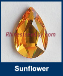 Swarovski 2303 Sunflower Pear Jewel Cut